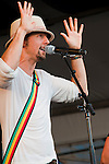 Jason Mraz performing at the New Orleans Jazz and Heritage Festival in New Orleans, Louisiana, April 30, 2011.