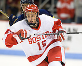Wade Megan (BU - 18) - The visiting Merrimack College Warriors tied the Boston University Terriers 1-1 on Friday, November 12, 2010, at Agganis Arena in Boston, Massachusetts.