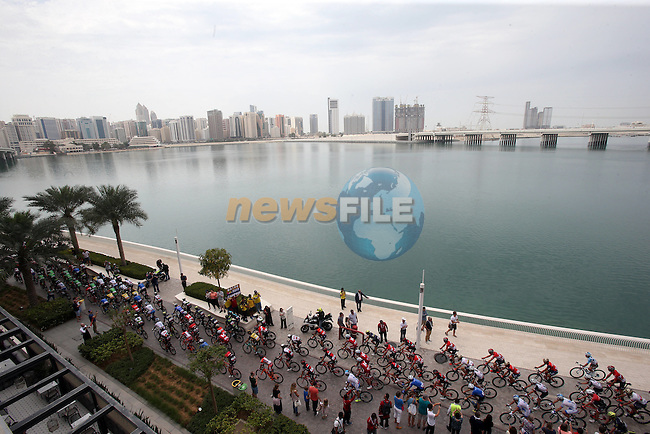 The start of Stage 2 the Nation Towers Stage of the 2017 Abu Dhabi Tour, running 153km around the city of Abu Dhabi, Abu Dhabi. 24th February 2017<br />