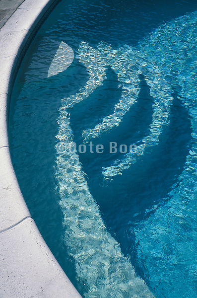 Detail of a clear blue pool