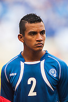 El Salvador defender Moises Xavier Garcia (2) during a CONCACAF Gold Cup group B match at Red Bull Arena in Harrison, NJ, on July 8, 2013.