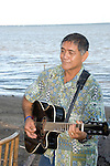 Hawaii: Molokai, Friday night kupuna night entertainment by locals at the Hotel Molokai, with singers, ukulele strummers, hula dancers, and good food and drink. Model released. .Photo himolo178-71810..Photo copyright Lee Foster, www.fostertravel.com, lee@fostertravel.com, 510-549-2202