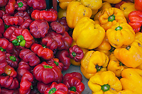 Assorted Red, Yellow Peppers, Fresh, Vegetables, Farm-fresh produce, Farm-fresh produce, fruits,