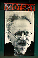Photograph of Leon Trotsky  in the Museo Casa de Leon Trotsky or Leon Trotsky House Museum in Coyoacan, Mexico City