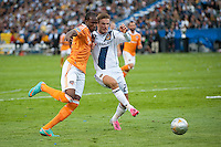 CARSON, CA-DECEMBER 1, 2012 -  David Beckham battles for possession during the 2012 MLS Cup Championship at the Home Depot Center in Carson, CA.  The LA Galaxy defeated the visiting Houston Dynamo 2-1 to repeat as Cup champions.
