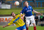 Cowdenbeath v St Johnstone....21.07.12  pre-season friendly.Marc McKenzie and Kevin Moon.Picture by Graeme Hart..Copyright Perthshire Picture Agency.Tel: 01738 623350  Mobile: 07990 594431