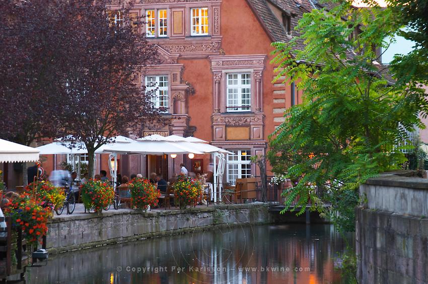 terrace little venice' jys restaurant q de la poissonnerie colmar alsace france