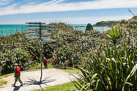 Popular walk along coastline on Cape Foulwind near Westport, West Coast, Buller Region, New Zealand
