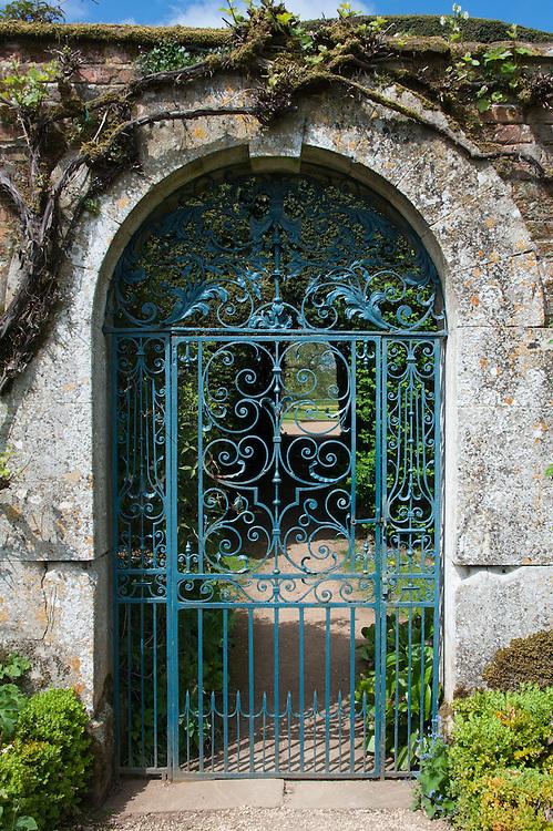Door to the walled garden, Rousham House.