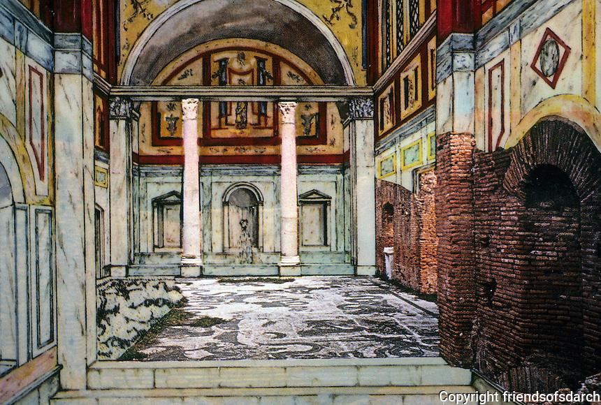 Italy: Ostia--Seven Baths of Neptune. Reconstruction.
