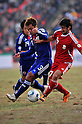 Yuichi Komano (JPN), Ibragim Rabimov (TJK), NOVEMBER 11, 2011 - Football / Soccer : 2014 FIFA World Cup Asian Qualifiers Third round Group C match between Tajikistan 0-4 Japan at Central Stadium in Dushanbe, Tajikistan. (Photo by Jinten Sawada/AFLO)