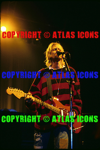 Nirvana; Kurt Cobain: Live Stabler Arena; Bethelehem; PA ;11/09/1993<br /> Photo Credit: Todd Kaplan/ Atlasicons.com