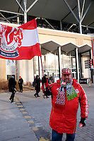 Toronto, ON, Canada - Saturday Dec. 10, 2016: Fan prior to the MLS Cup finals at BMO Field.