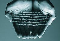 Symbolic hands nurturing creativity