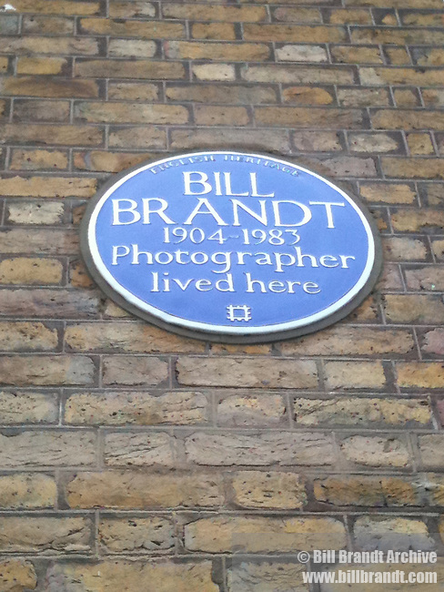 English Heritage Blue Plaque for Bill Brandt