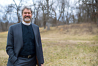 NWA Democrat-Gazette/JASON IVESTER<br /> Rev. Roger Joslin; photographed on Tuesday, Feb. 16, 2016, on the land where his church, Christ the King Lutheran Church, is involved in building a multi-faith building, where Christians, Jews and Muslims will worship together in Bentonville