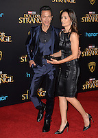 LOS ANGELES, CA. October 20, 2016: Benjamin Bratt &amp; Talisa Soto at the world premiere of Marvel Studios' &quot;Doctor Strange&quot; at the El Capitan Theatre, Hollywood.<br /> Picture: Paul Smith/Featureflash/SilverHub 0208 004 5359/ 07711 972644 Editors@silverhubmedia.com