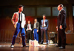 Mojo by Jez Butterworth, directed by Ian Rickson. With Ben Whishaw as Baby, Rupert Grint as Sweets, Colin Morgan as Skinny, Daniel Mays as Potts, Brendan Coyle as Mickey. Opens at The Harold Pinter Theatre  on 13/11/13  pic Geraint Lewis