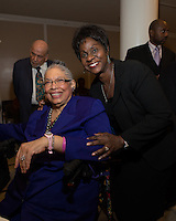 NEW YORK, NY - APRIL 3: Dr. Phyllis Harrison-Ross, Dr. Marcia Bayne Smith pictured as David N. Dinkins, 106th Mayor of the City of New York, receives the Dr. Phyllis Harrison-Ross Public Service Award for a lifetime of public service at the New York Society of Ethical Culture in New York City on April 3, 2014. Credit: Margot Jordan/MediaPunch