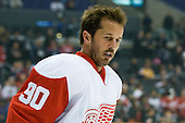 Mike Modano (Detroit Red Wings, #90) at warm up during ice-hockey match between Los Angeles Kings and Detroit Red Wings in NHL league, February 28, 2011 at Staples Center, Los Angeles, USA. (Photo By Matic Klansek Velej / Sportida.com)