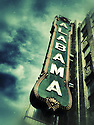 The sign of the historic Alabama Theatre