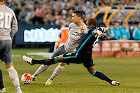 Melbourne, 24 July 2015 - Cristiano Ronaldo of Real Madrid kicks for goal but misses in game three of the International Champions Cup match between Manchester City and Real Madrid at the Melbourne Cricket Ground, Australia. Real Madrid def City 4-1. (Photo Sydney Low / AsteriskImages.com)