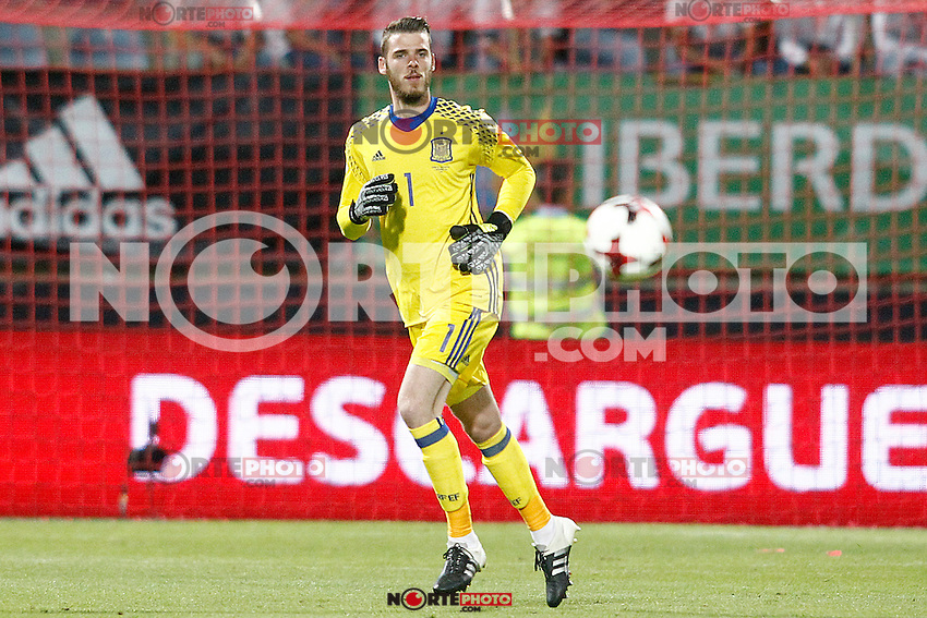 Spain's David De Gea during FIFA World Cup 2018 Qualifying Round match. September 5,2016.(ALTERPHOTOS/Acero) /NORTEPHOTO