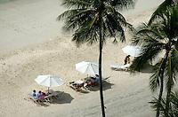 AERIALS OVER A RESORT BEACH IN PALAU, MICRONESIA