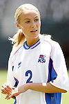 24 July 2005: Iceland's Gudrun Gunnarsdottir. The United States defeated Iceland 3-0 at the Home Depot Center in Carson, California in a Women's International Friendly soccer match.