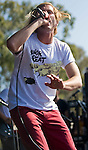Awolnation singer Aaron Bruno performs during the KROQ Weenie Roast y Fiesta Saturday.