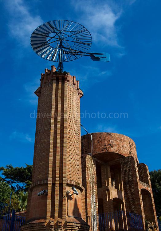 Windmill or Molino at Casa Armet - Modernist Architecture, Sant Cugat des Valles