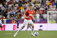 Michael Carrick (16) of Manchester United. Manchester United defeated the MLS All-Stars 4-0 during the MLS ALL-Star game at Red Bull Arena in Harrison, NJ, on July 27, 2011.