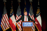 June 15, 2016 - Atlanta, Georgia:  Donald Trump speaks at a Trump for President rally at the Fox Theatre.<br /> <br /> <br /> <br /> (Photos by Joeff Davis)