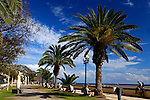 Europe, Portugal, Madeira. Harbor promenade in Funchal.