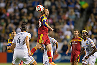 Carson, California - March 8, 2014: Real Salt Lake defeated the LA Galaxy 1-0 to begin their Major League Soccer (MLS) season match at StubHub Center stadium.