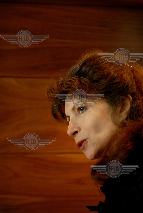 A portrait of philosopher Monique Canto-Sperber. Her worked has mainly consisted of two bioethics issues: the thoughts of Plato, some of which she has translated; and the relationship between socialism and liberalism. Since 2005, Monique has been the director of Ecole Normale Superieure, one of the most presitigious higher education establishments in France.