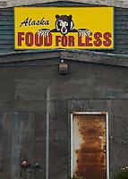 Alaska Food for Less Store, Kodiak Island, Alaska, US