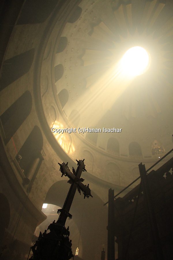 Easter, Holy Saturday, the Ceremony of the Holy Light at the Church of the Holy Sepulchre in Jerusalem