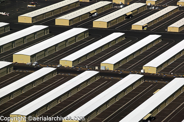 aerial photograph of hangars at Deer Valley airport, Phoenix,  Arizona