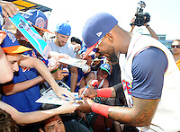NEW YORK, NY - June 26: Jose Reyes joins the New York Mets Minor League affiliate the  Brooklyn Cyclones in MCU Park as he works his way back to the Major Leagues as a member of the New York Mets. Photos  by: John Palmer MediaPunch