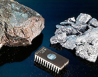 GERMANITE, E-PROM MEMORY CHIP &amp; SILICON METAL<br />