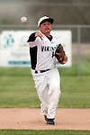 Vale shortstop Shadd Samio throws to first during the second inning of the 3A Oregon State Baseball Championships first round game against Rogue River on May 25, 2011 at Cammann Field, Vale, Oregon.