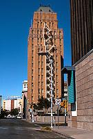 El Paso:   O.T. Bassett Tower, 16 stories. Side elevation. Henry C. Trost, Arch. 1929-30.