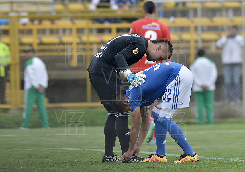 BOGOTA - COLOMBIA -06 -03-2016: Aspecto del encuentro entre Fortaleza FC y Millonarios por la fecha 8 de Liga Águila I 2016 jugado en el estadio Metropolitano de Techo en Bogotá./ Aspect of the match between Fortaleza FC and Millonarios for the date 8 of the Aguila League I 2016 played at Metropolitano de Techo stadium in Bogota. Photo: VizzorImage / Gabriel Aponte / Staff.