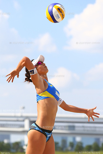 Satoko Urata,<br /> SEPTEMBER 21, 2015 - Beach Volleyball : <br /> JBV Tour 2015 Tokyo Open<br /> Women's Final<br /> at Odaiba Beach, Tokyo, Japan.<br /> (Photo by Shingo Ito/AFLO SPORT)