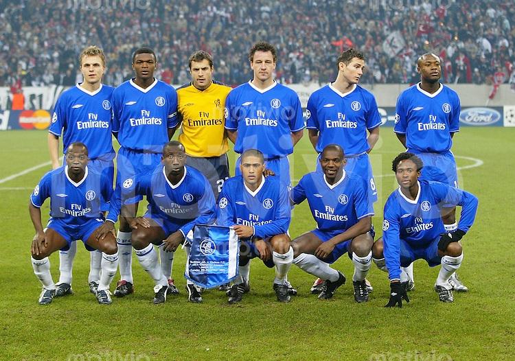 Fussball Champions League Saison 2003-2004 Teamfoto Chelsea FC
