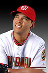 25 February 2007: Washington Nationals infielder Melvin Dorta poses for his Photo Day portrait at Space Coast Stadium in Viera, Florida.<br /> <br /> Mandatory Photo Credit: Ed Wolfstein Photo<br /> <br /> Note: This image is available in a RAW (NEF) File Format - contact Photographer.