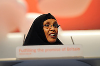 &copy; Licensed to London News Pictures. 26/09/2011. LONDON, UK. Dr Maryan Quaim at The Labour Party Conference in Liverpool today (26/09/11). Photo credit:  Stephen Simpson/LNP