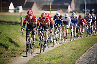 Jurgen Roelandts (BEL/Lotto-Soudal) leading his teammates <br /> <br /> Kuurne-Brussel-Kuurne 2016