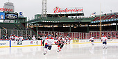 Joe Houk (UML - 4), Tanner Pond (NU - 22) - The Northeastern University Huskies defeated the University of Massachusetts Lowell River Hawks 4-1 (EN) on Saturday, January 11, 2014, at Fenway Park in Boston, Massachusetts.